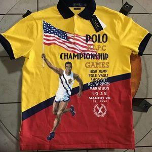 1938 Polo Ralph Lauren Yellow Chariots polo shirt